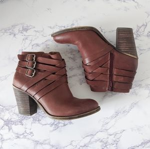 Lucky Brand Strappy Ankle Boots Size 5.5